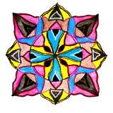 Circular patterned  drawing. Stock Photography