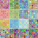 Circular patterns. Collection of 16 seamless circular patterns Stock Images