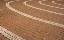 Circular paving pattern. Block paving arranged in a circular pattern Royalty Free Stock Photo