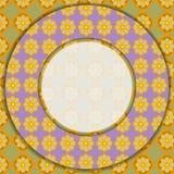 Circular  photo frame. Stock Photo