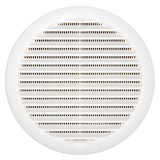 Circular plastic air vent over white Royalty Free Stock Image