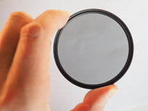 Circular polarising filter Stock Images