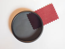 Circular polarising filter Royalty Free Stock Photo
