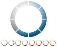 Circular preloader, progress indicator icon w/ 8 steps. Buffer s. Ymbol. - Royalty free vector illustration Royalty Free Stock Photo