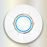 Circular Progress Bar can be used for infographics Stock Photos