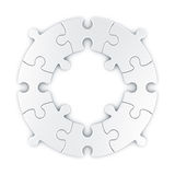 Circular puzzle. 3d rendering of a circular puzzle vector illustration