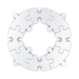 Circular puzzle Stock Image