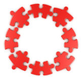 Circular puzzle Stock Photos