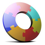 Circular puzzle Stock Photos