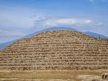 Circular pyramid in the archaeological zone of Guachimontones in Teuchitlán Mexico royalty free stock photography