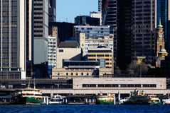 Circular quay. City view of circular quay, sydney harbour stock photography
