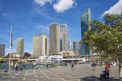 Circular quay in central sydney australia Royalty Free Stock Image