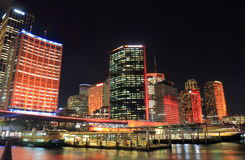 Circular Quay downtown cityscape Sydney Australia Royalty Free Stock Photos