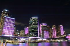 Circular Quay downtown cityscape Sydney Australia Royalty Free Stock Images