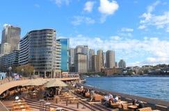 Circular Quay downtown cityscape Sydney Australia Royalty Free Stock Photos