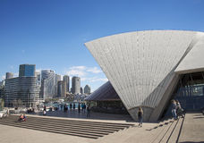 Circular quay and opera house in central sydney australia Royalty Free Stock Photos
