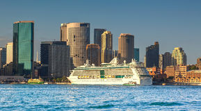 The overseas passenger terminal in Sydney stock photography