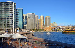 Circular Quay Restaurants & Bars Viewed from The Opera House Royalty Free Stock Photos