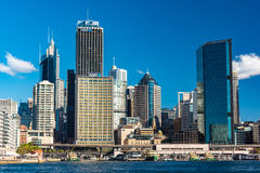 Circular Quay skyline before reconstruction, development Stock Images