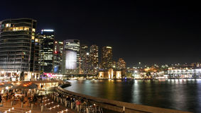 Circular Quay, Sydney. Circular Quay night panorama, Australia Stock Photography