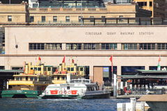 Circular Quay ferry terminal Royalty Free Stock Image