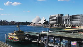 Circular quay at sydney harbour time lapse stock video footage