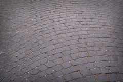 Circular radiating brick walkway in a park Stock Photography