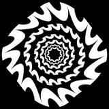Circular, radiating element. Abstract monochrome geometric graph Stock Photography