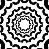 Circular, radiating element. Abstract monochrome geometric graph Royalty Free Stock Photo