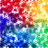 Circular rainbow color spectrum pattern, square format royalty free illustration