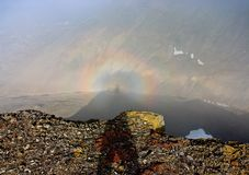 Circular Rainbow Corona Stock Photography