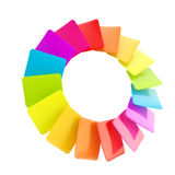 Circular rainbow palette of glossy cards. Circular rainbow palette of glossy colorful cards isolated on white vector illustration