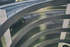 Circular ramp in parking garage Royalty Free Stock Photos