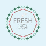 Circular repetitive pattern of colorful fish. Circular repetitive  pattern of colorful fish Royalty Free Stock Photo