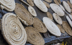 Circular Rope Lines For Decoration. Decorations using circular rope lines in Kala Godha Art Festival, Mumbai Stock Images