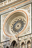 Circular rosone of Duomo of Florence Royalty Free Stock Photo