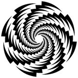 Circular, rotating spiral, vortex element, motif. Abstract geome Royalty Free Stock Photography