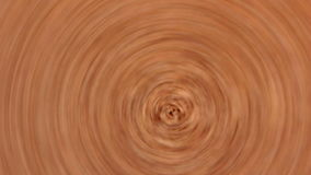 Circular rotation of wooden brown structure stock video footage