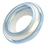 Circular round copyspace frame abstract background. Copyspace circular round frame abstract background made of glossy chrome metal circle paths isolated on white vector illustration