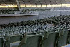 Circular Rows of Seating in an Empty Concert Theatre. Photographed at Melbourne`s Sidney Myer Music Bowl royalty free stock photo