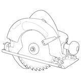 Circular Saw. Highly detailed illustration of a circular saw stock illustration