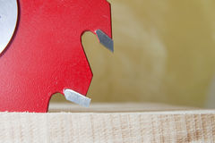 Circular Saw. Working with wood with Circular Saw Royalty Free Stock Images