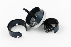 Circular saw and accessories Stock Image