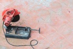 Circular saw and angle grinder Royalty Free Stock Photos
