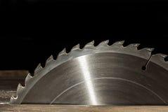 Circular saw. On black background Royalty Free Stock Image