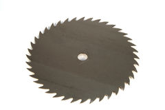 Circular Saw Blade. On a white background Royalty Free Stock Photos