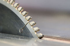 Circular saw blade. Detail of a circular saw blade stock photography