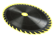 Circular saw blade - dof effect, with glow Royalty Free Stock Photo