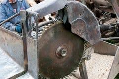 Circular saw blade . Circular saw blade for firewood cuttings Stock Photography