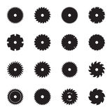 Circular saw blade icons Royalty Free Stock Photography